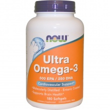Антиоксидант NOW Ultra Omega 3  180 капсул