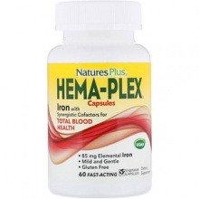 Витамины Nature's Plus Hema-Plex 60 капс
